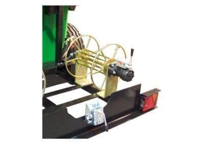 Enrollador de manguera con motor hidráulico