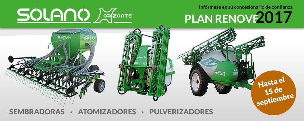 Máquinas agrícolas SOLANO HORIZONTE y el PLAN RENOVE 2017