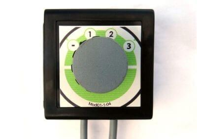 Selector con botón de posición rotativa